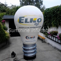 Индивидуальные гигантские надувные лампочки надувная лампа с печатью логотипа для рекламы