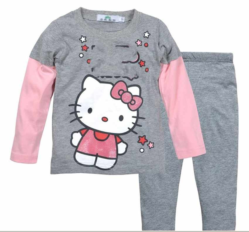 NEW kids pajamas Sets Baby Girls / boys Pajamas Suit cartoon Design long Sleeves children clothing set LP48