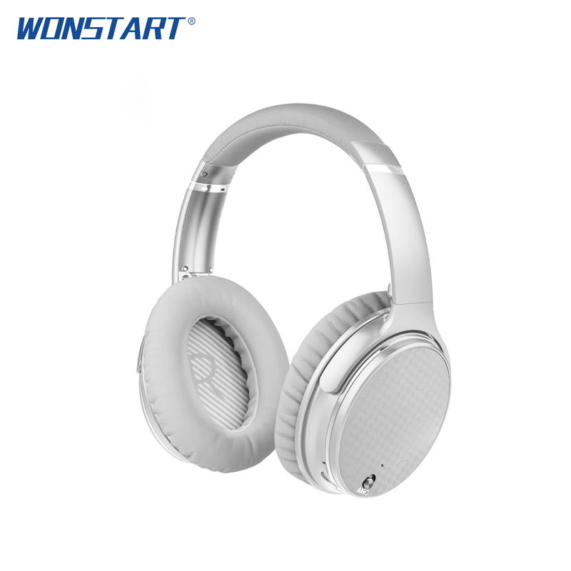 WONSTART Active Noise Cancelling Wireless Bluetooth Headphones Folable Headset ANC Over Ear Headphone For Xiaomi Samsung anc wireless bluetooth headphones active noise cancelling folable headset with rotal design over ear headphone fone de ouvido