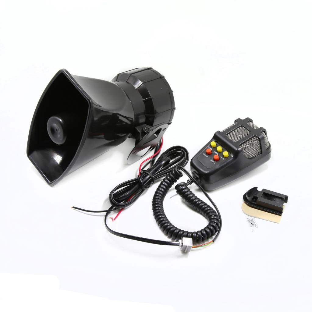 New DC 12V 100W Motorcycle Car Auto Vehicle Truck 5 Sound Tone Loud Horn Siren Police Firemen Warning Alarm Loudspeaker стоимость
