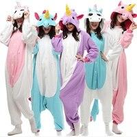 Unicornio Animal kigurumi Pijamas Stitch Pikachu Panda Oso Koala Onesie Unisex Adulta Cosplay CostumeSleepwear Para Hombres Mujeres