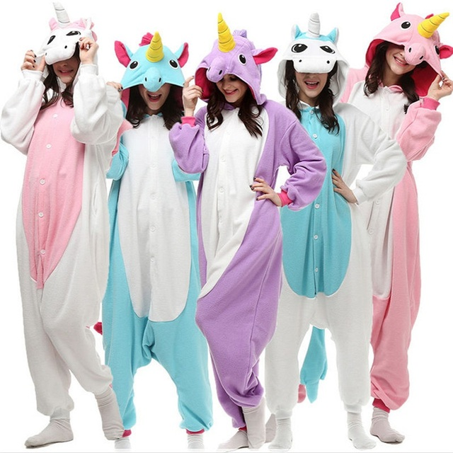kigurumi Unicorn Animal Pajamas Stitch Panda Bear Koala Pikachu Onesie Adult Unisex Cosplay CostumeSleepwear For Men Women