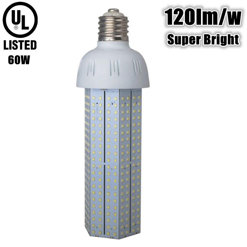 120lm/w super bright 60w led bulb e39 e40 AC110v 220v 240v E40 E39 60W LED corn bulb replace 150w metal halide lamp street lamp 60w e40 dc24v 12v taiwan led chips epistar 110 120lm w led light bulb e40