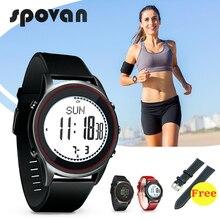 10 Styles SPOVAN 70g montre de Sport Ultra mince pour hommes femmes bracelet de montre en Silicone en cuir véritable, au-delà du cadeau de sangle gratuite