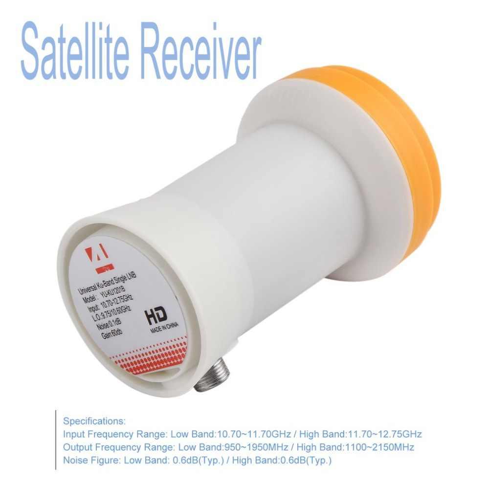 Super HD Miglior Segnale Digitale KU LNB Ricevitore Satellitare Universale KU Per La Banda LNB Singolo Impermeabile Ad Alto Guadagno Antenna Satellitare LNB
