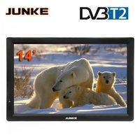 HD Портативный ТВ 14 дюймов цифровой и аналоговый Led телевизоров Поддержка TF карты USB аудио автомобиля телевидении HDMI Вход DVB T DVB T2 AC3