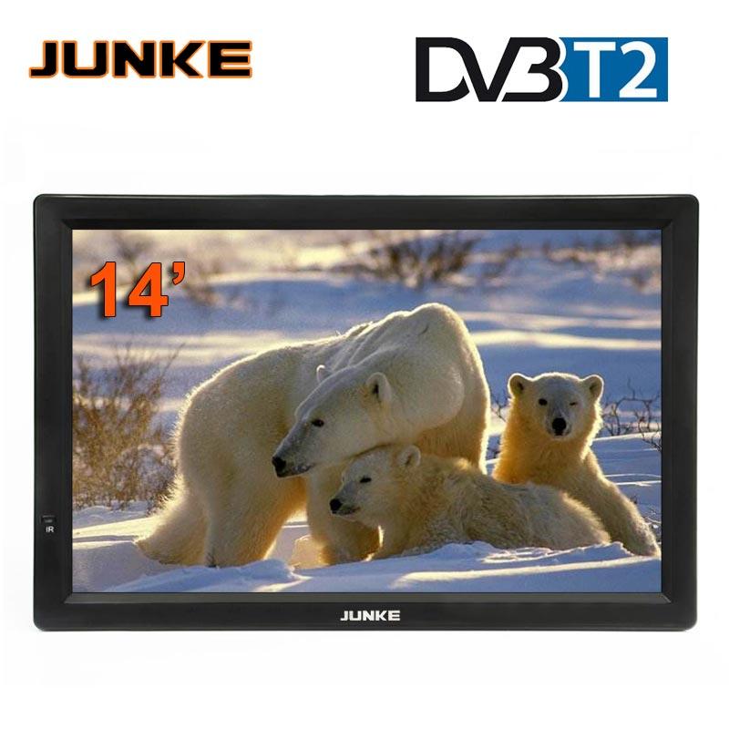 HD портативное ТВ 14 дюймов цифровые и аналоговые светодиодные телевизоры поддержка tf-карты USB аудио Автомобильное телевидение HDMI вход DVB-T ...