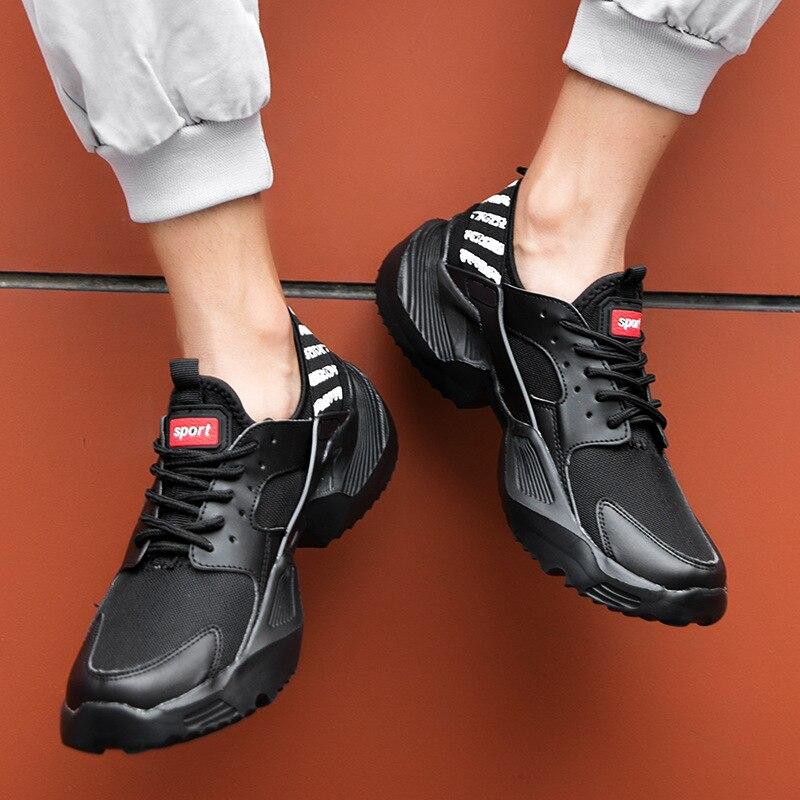 2019 novos tênis grossos masculinos respiráveis grandes plus size 39-47 48 sapatos casuais tendência da moda super leve sapatos masculinos