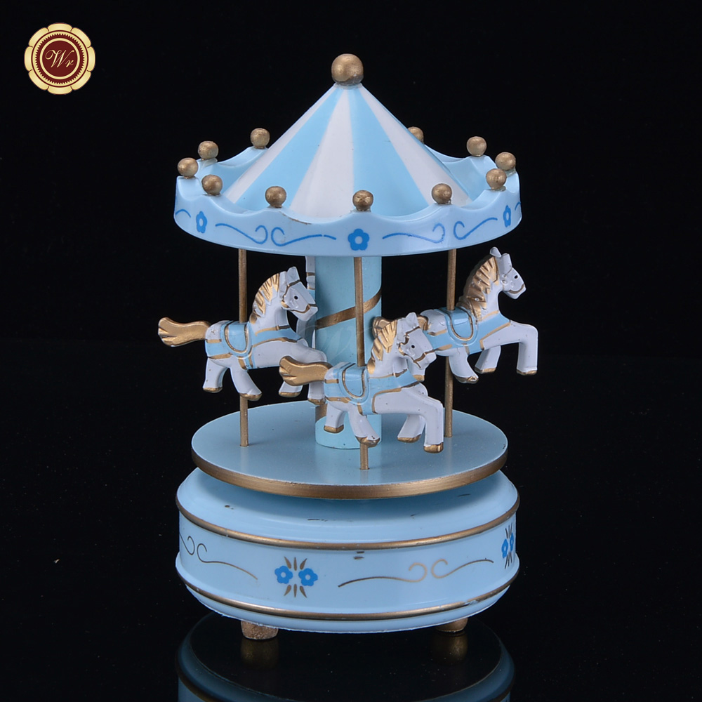Wr Wife Birthday Gift Ideas Carousel Wooden Music Box Home Office