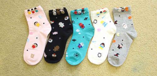 Halloween mas 2018 nova moda algodão meninas meias meias meias dos desenhos animados bonito suor resistente festival presente