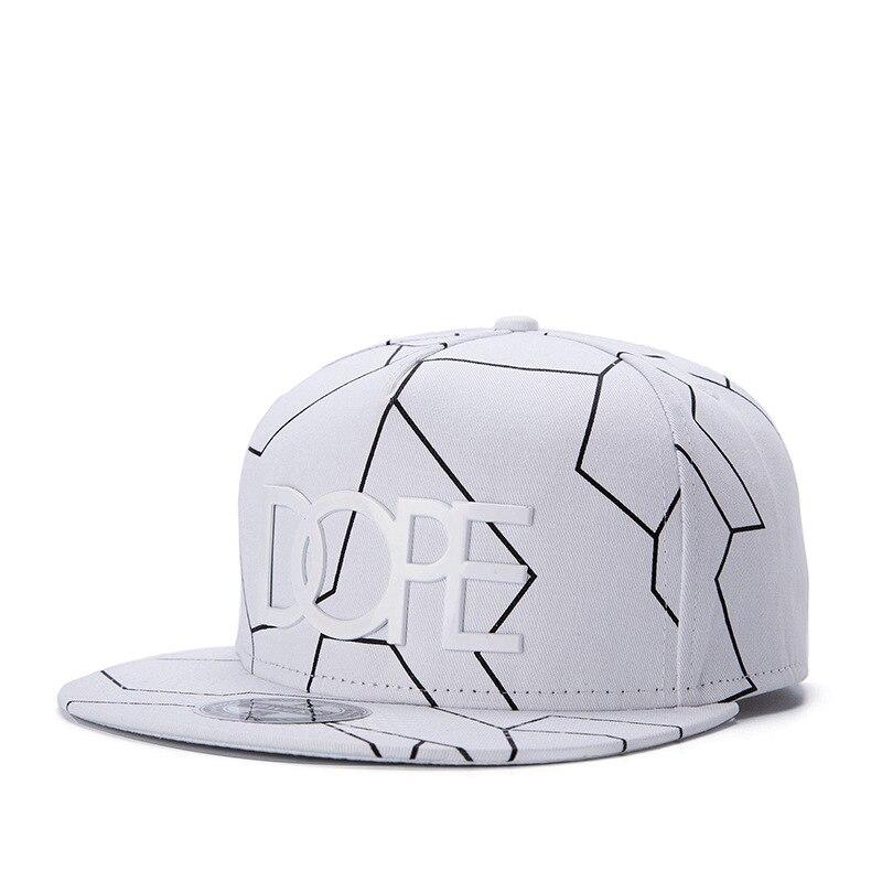 2018 New Bone Gorras Planas Snapbacks Hot style Masculino Feminino Dope Print flat hat   baseball     cap   Hip Hop   Cap   hat Swag Mens