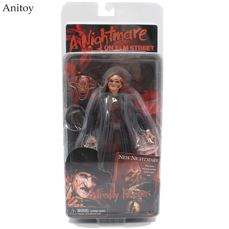NECA a Nightmare on Elm Street New Nightmare Freddy Krueger PVC Action Figure Collectible Model Toy 17cm KT3425 neca a nightmare on elm street 3 dream warriors pvc action figure collectible model toy 7 18cm kt3424