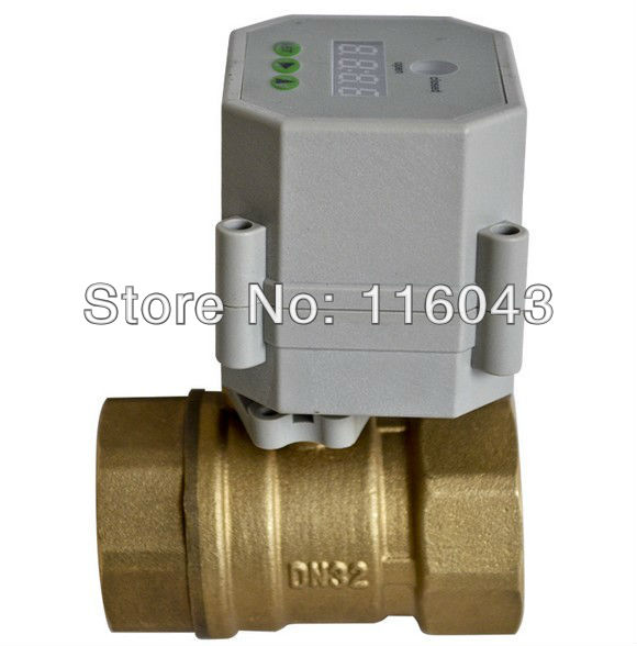 AC110V-230V 1 1/4'' motorized valve time control valve 32mm brass BSP or NPT thread for water air compressor Drain water Pump 3 4 brass time control electric valve ac110v 230v bsp npt can be selected for garden water irrigation drain water air pump