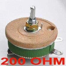 Мощный проволочный потенциометр 50 Вт 200 Ом, реостат, переменный резистор, 50 Вт.