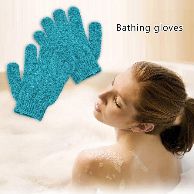 Random Color 1Piece High Quality Exfoliating Gloves Mitt Bath Shower Scrub Tan Dead Skin Removal Glove