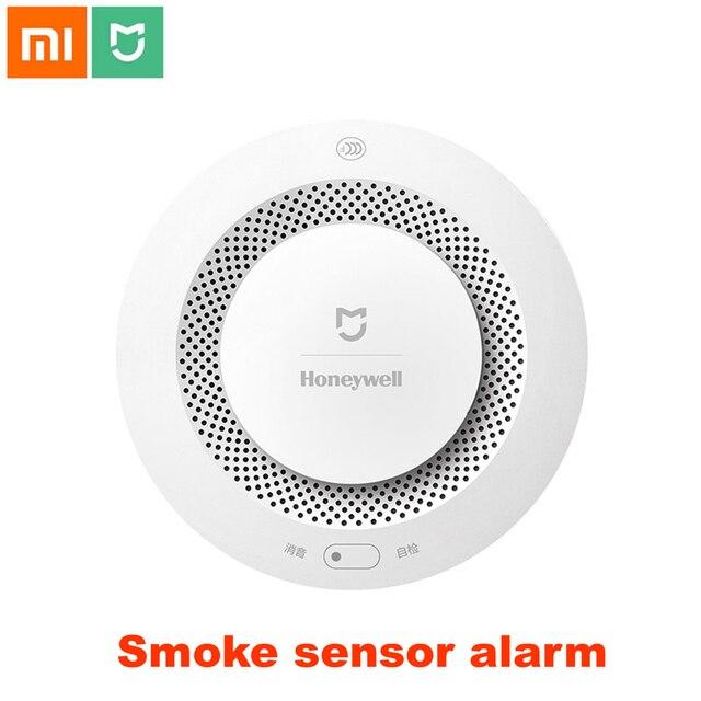 Xiao mi mi jia honeywell fumo Fuoco Sensore rilevatore di Allarme acustico Di Visual sensore Di Fumo a Distanza Mi Casa intelligente app Di Controllo