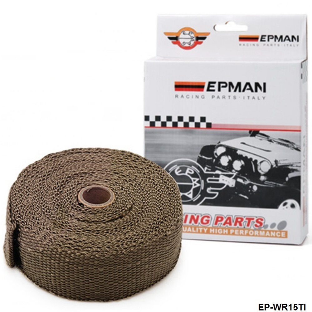 """CAFE RACER EXHAUST PIPE HEADER WRAP STAINLESS TIES 1//16/"""" X 2/"""" X 25/' TAN 1 ROLL"""