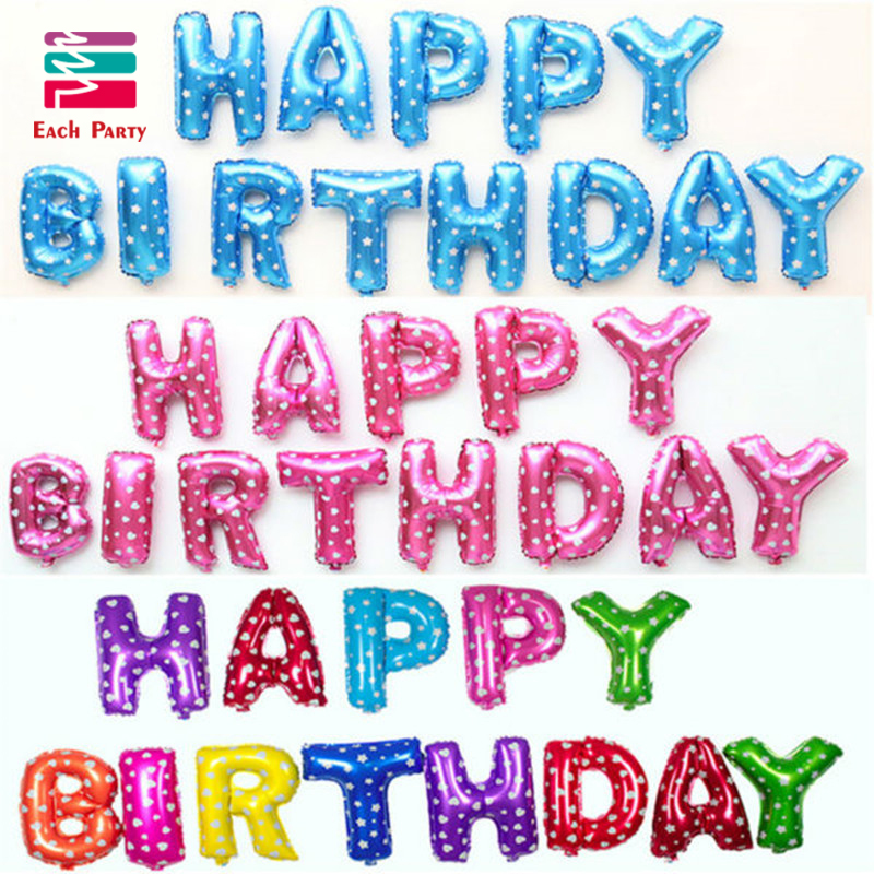 happy birthday letters for him multicolor letters happy birthday foil balloons silver 11553