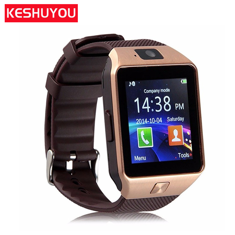 KESHUYOU  bluetooth smart watches android man watch 2G GSM SIM TF smartwatch dz09 android camera for Xiaomi Samsung HUAWEI