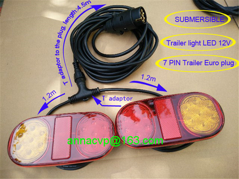 LED trailer tail lights lamp kit stop indicator tail waterproof submersible 12V trailer parts TRAILER SIDE