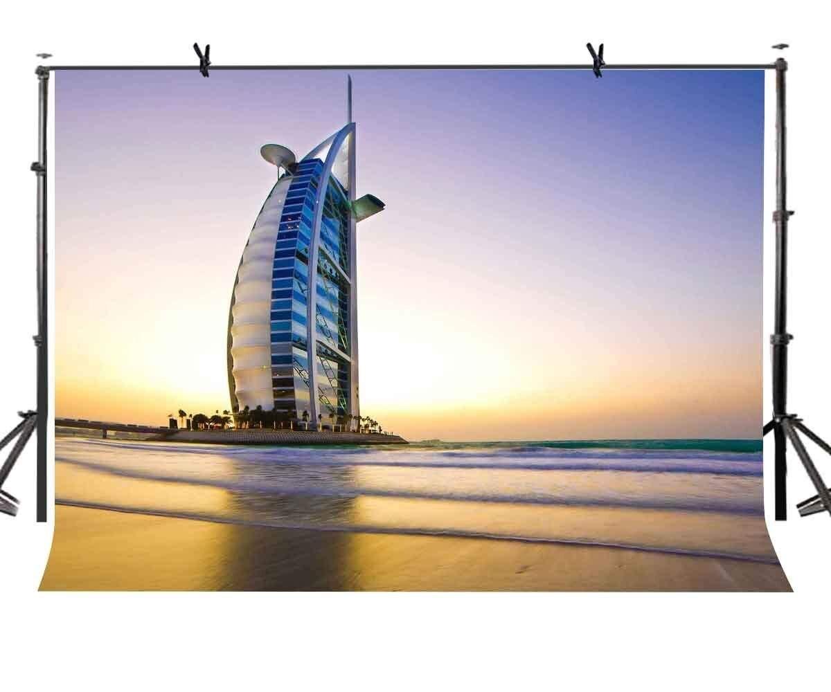 Doeltreffend 150x220 Cm Dubai Architectonische Landschap Achtergrond Burj Al Arab Fotografie Achtergrond Studio Props