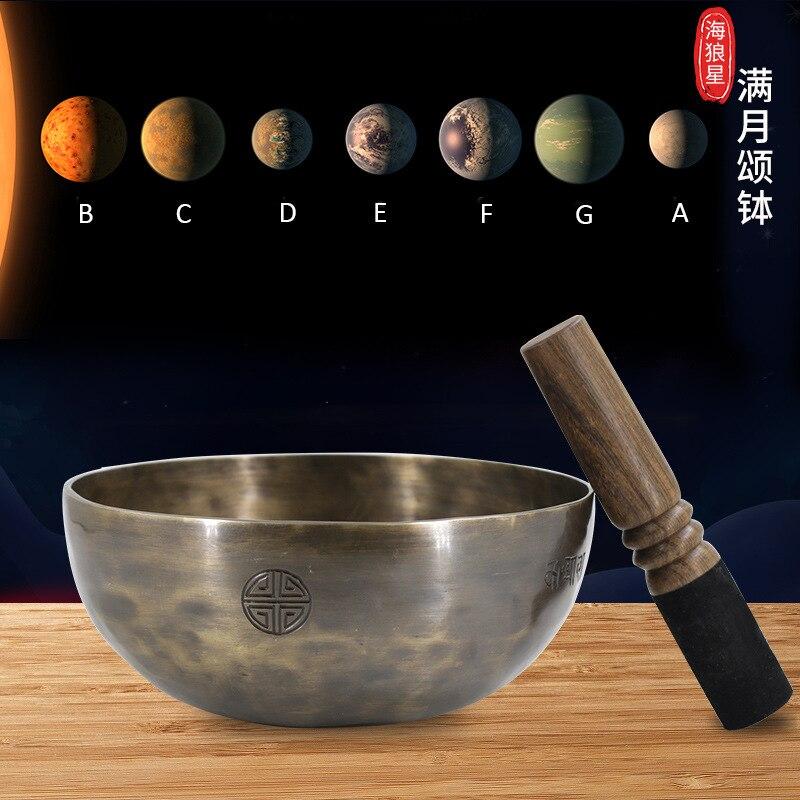 Tibetan Buddhism Handmade Copper Large Singing Bowls With Leather Stick Cushion Copper Bowl Yoga Meditation Buddhism Decoration