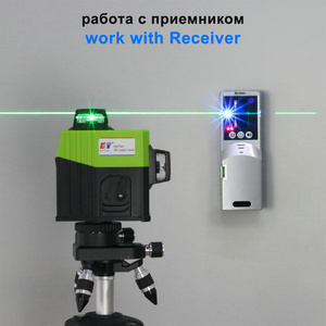 Image 4 - Kaitian Lazer Level Receiver Green 3D Self Leveling Cross 12Lines Vertical Horizontal 360 Rotary Lasers Line Level Battery Tools