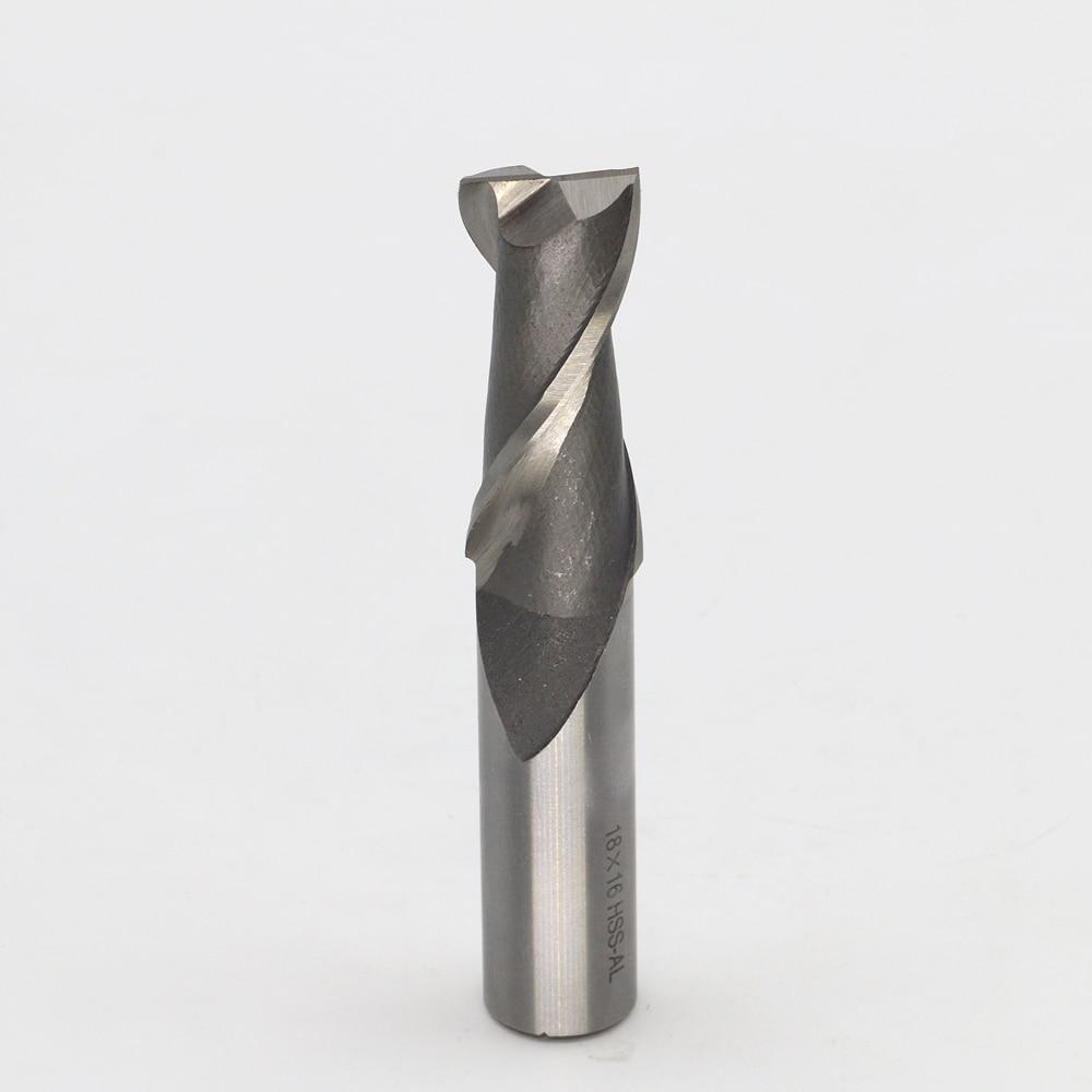 New 2Flute Head 18mm End mills Milling cutter CNC bits tools W4Mo3Cr4V1 HSS & Aluminium 2F 18*16*42*95mm new 3flute head 3mm end mills milling cutter use for aluminum cnc bits tools w4mo3cr4v1 hss
