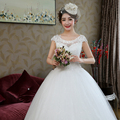 LYGH78#The bride wedding gown 2017 new round collar to  ball gown lace bag wholesale custom-made wedding dresses white