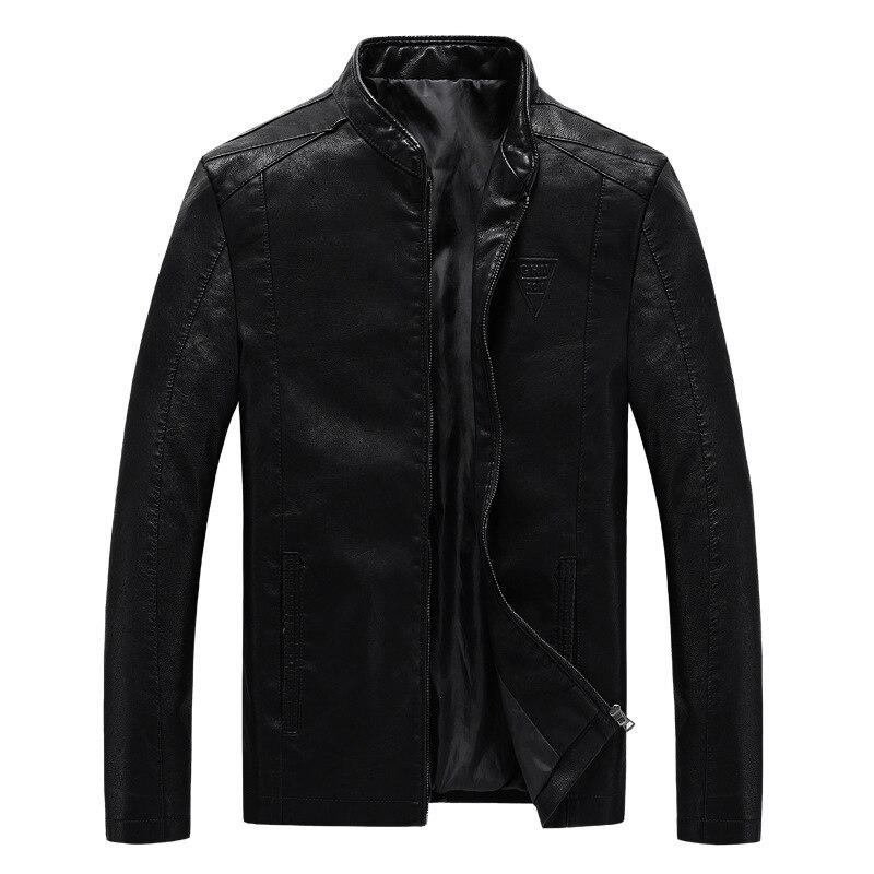 2019 Spring Autumn New Plus Size Moto Jacket Men Loose Stand Collar Men Biker Jacket