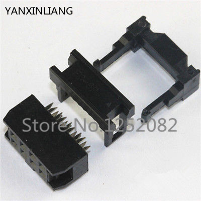 100PCS IDC Socket FC-8P 2.54mm IDC connector 8-pin cable socket 8P 2X4P IDC 200 pcs fc 14p 14 pins male idc socket plug ribbon cable connector black free shipping