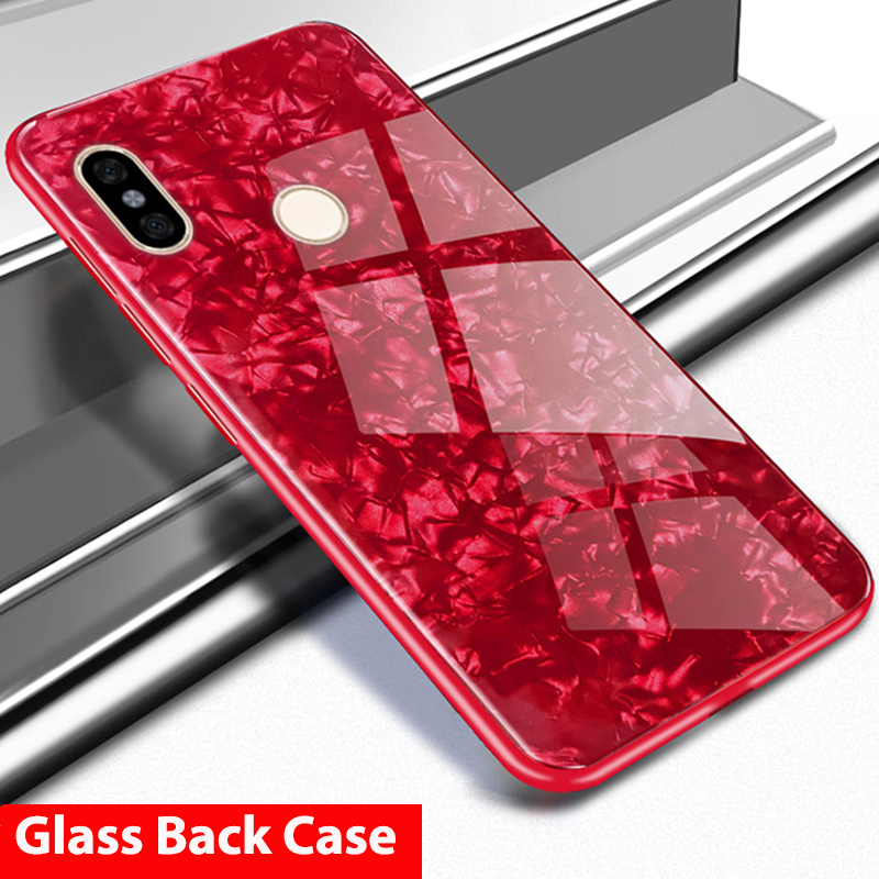 separation shoes 415e3 256b3 Hard Tempered Glass Back Case Xiaomi Redmi Note 5 Pro Note5 Redmi 6 Pro 6A  S2 5 Plus Cover Redmi 5 Plus Glass Case