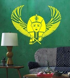 Image 1 - Vinyl muur applique Egyptische Farao Wing Egyptische oude world art stickers home decor woonkamer slaapkamer muurstickers 2AJ1