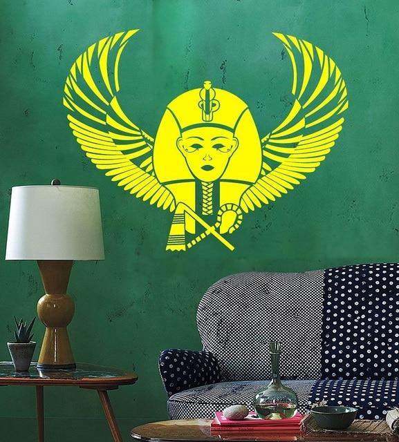 Vinyl muur applique Egyptische Farao Wing Egyptische oude world art stickers home decor woonkamer slaapkamer muurstickers 2AJ1