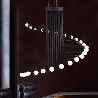 Nordic Минималистский индустриальный Лофт ветер ретро Творческий столовая Lounge Cafe Bar винтовая лестница люстра