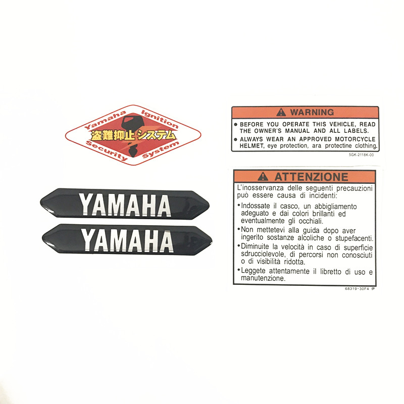 Motorcycle car high quality 3d 3M sticker fit for yamaha logo YZF R1/R1M YZF R6 V-MAX MT-07/FZ-07 FJ-09/MT-09 Tracer MT-01 цена