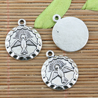 6pcs tibetan silver color 19mm round pattern charms EF2315