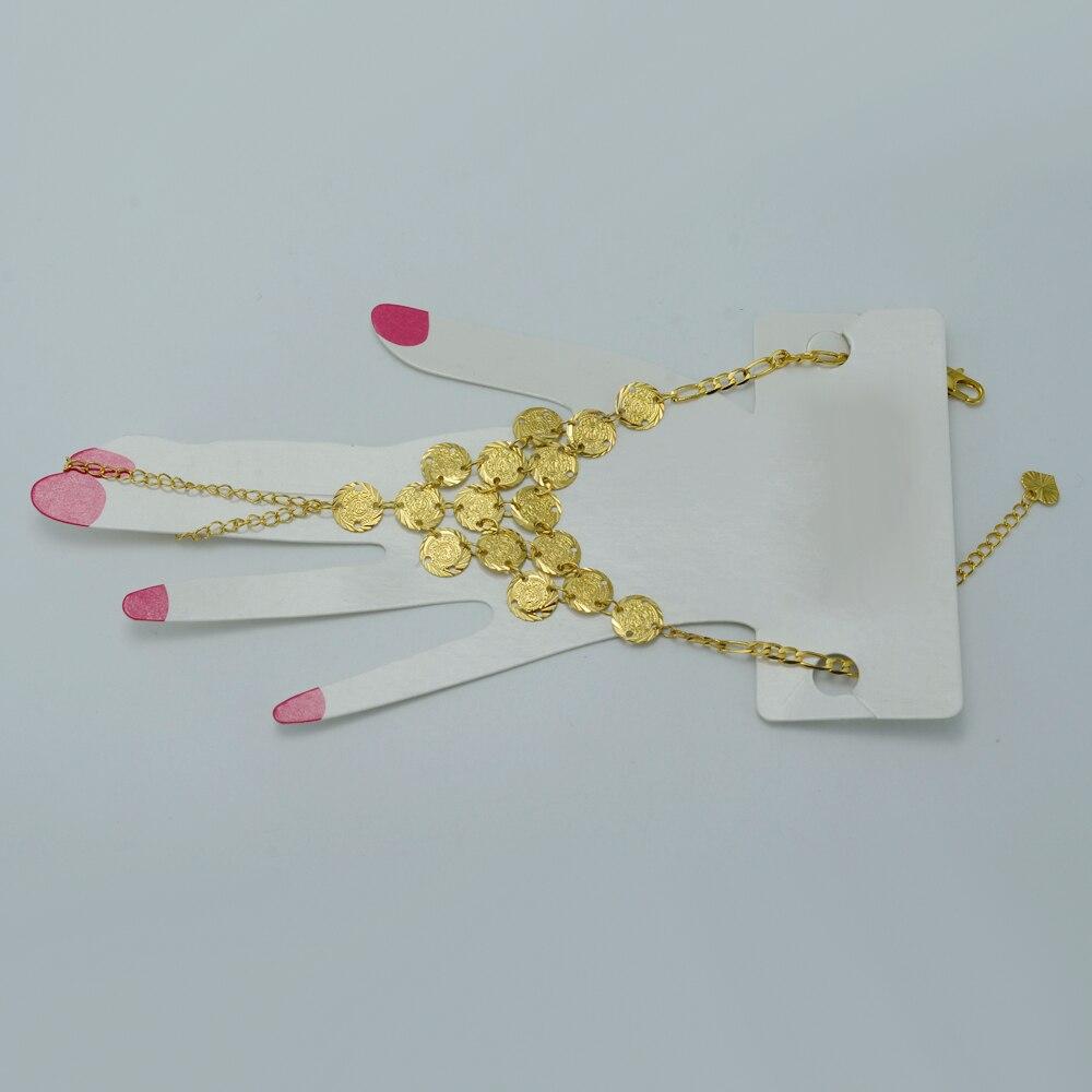 Anniyo L islam Coin Charm Bracelet pour les Femmes Or Couleur Arabe Main Chaîne  Moyen d053b6dfd55
