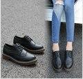 2017 Весной дизайнер обуви круглый головы плоские туфли, Босоножки, Британский ветер обувь одного