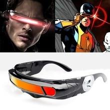 X men lazer Cyclops güneş gözlüğü erkekler kadınlar tasarımcı özel bellek malzemeler polarize seyahat UV400 güneş gözlüğü Vintage Oculos