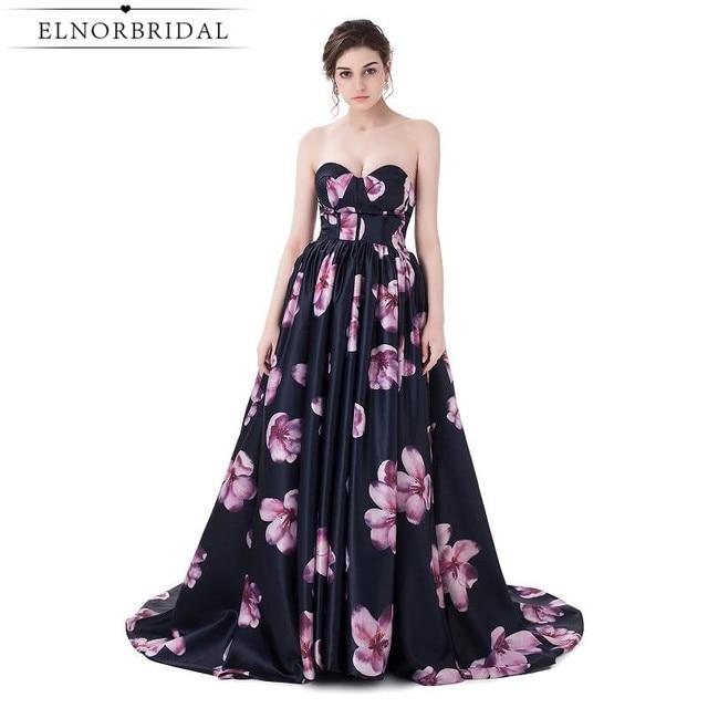 453bb3e2bd810 الكرة ثوب الزهور طباعة فساتين السهرة أثواب 2018 رداء دي سواريه الحبيب رسمي  prom اللباس الأبد