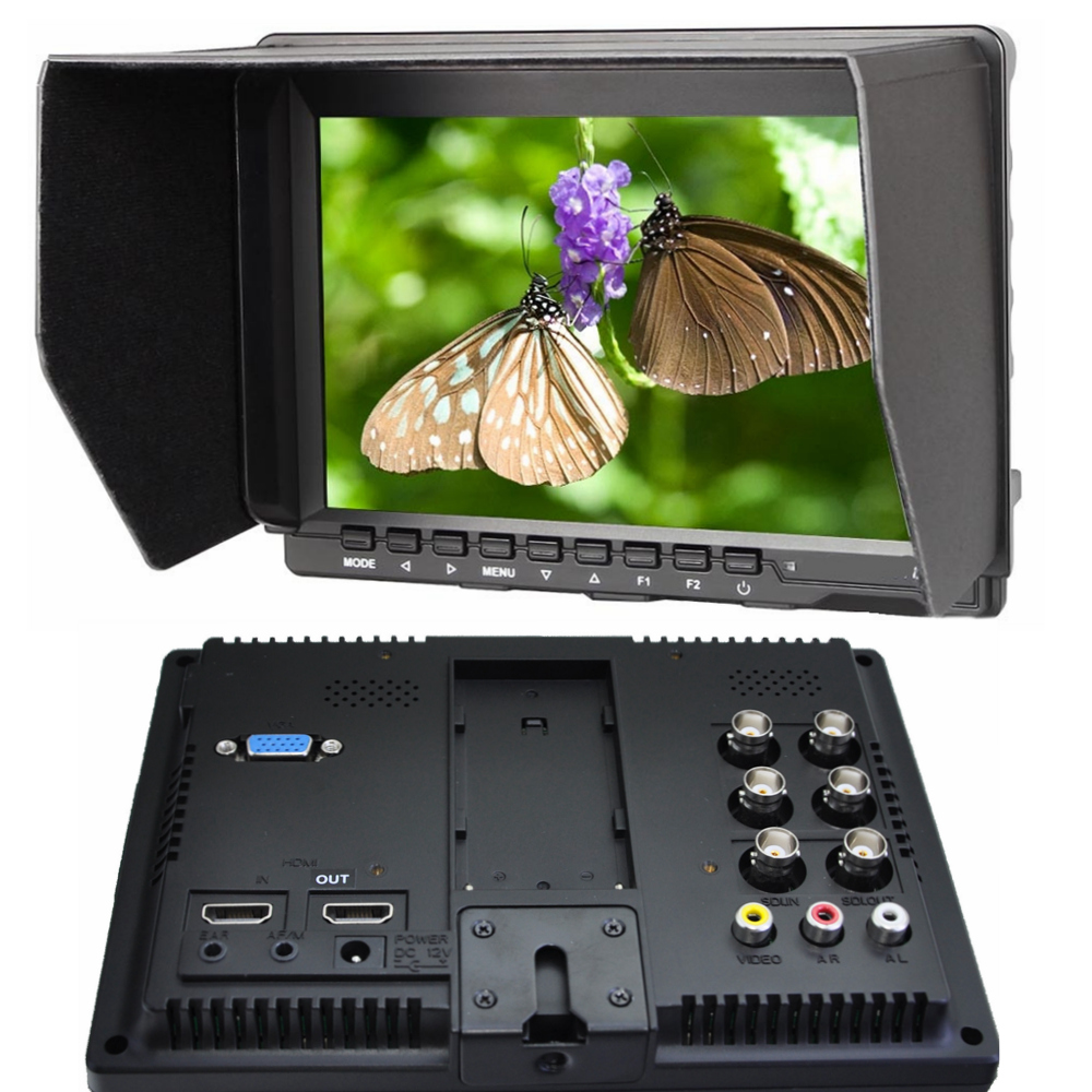new 7 Pro-Broadcast with HD HDMI SDI input 1280*800 IPS Field hd Monitor Peaking Filter 5D II Camera Mode for BNC DSLR monitor