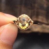 Gems tamaño 5*6.8mm joyería fina 18 k oro blanco upclass certificada natural Brasil turmalina anillo para las mujeres