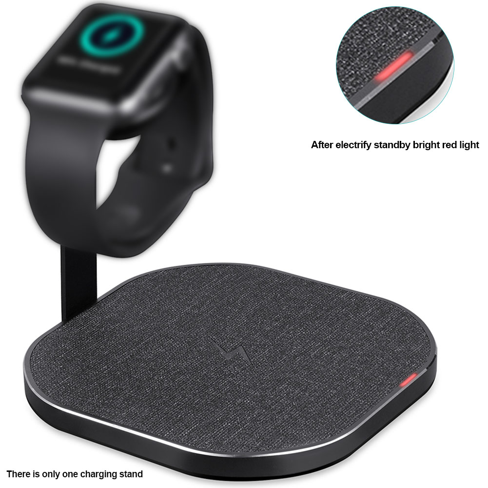 Mount Bedroom Desktop Holder Station Bracket 2 In 1 Charging Stand Portable Smartphones Wireless Aluminum Alloy For Apple Watch
