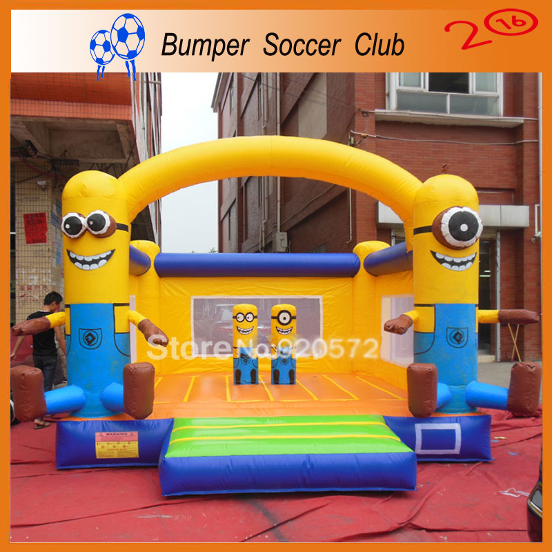 Free shipping ! Free logo printing ! Outdoor Inflatable Bouncer House,Inflatable Bouncer Castle,Jumping Castle For Kids Play 2015 blue yellow inflatable jumping house free shipping