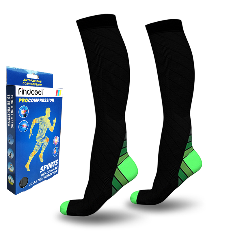 Findcool Medical Compression Sport Socks for Cycling Running Yoga Graguated Compression Socks Breathable Quick Dry for Men Women