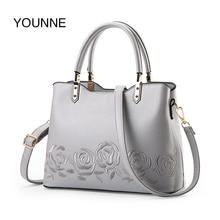 Luggage Bags - Handbags - YOUNNE 2018 Women Fashion Handbag Female Floral Pattern Bag Simple Style Shoulder Bags Lady Solid Color Zipper Tote Bags Handbag