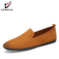 VESONAL Spring Summer Driving Loafers Moccasins For Men Shoes Slip On Flats Fashion Casual Style Soft