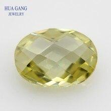 Lomon CZ камень овальной формы двойные шахматные искусственные камни кубический цирконий для ювелирных изделий Размер 4x6 ~ 10x14 мм оптовая прода...