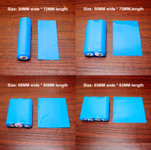 100pcs/lot 18650 Battery Skin PVC Heat Shrinkable Film Shrinkage Package Insulating Sleeve